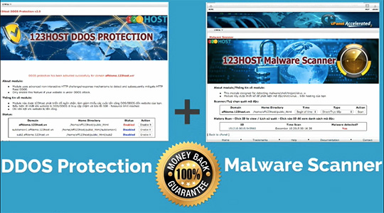 cpanel ddos protection malware scanner